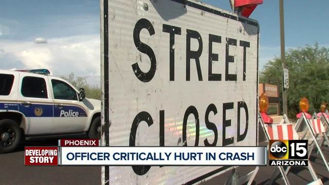 Phoenix officer still in critical condition after crash