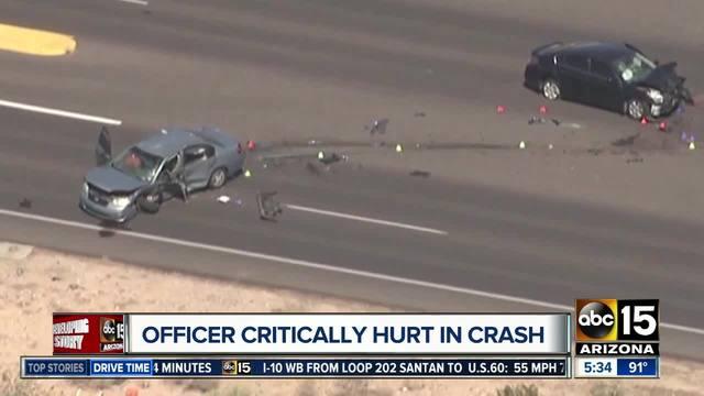 Phoenix officer undergoes surgery after serious crash