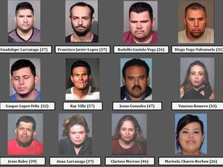 PD: 12 jailed in Chandler drug trafficking bust