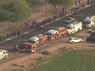 Gilbert FD escorts late chief's child to class