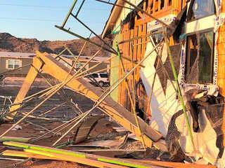 Homes sustain heavy damage in Rainbow Valley