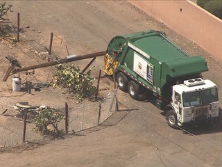 2 out of truck after it hit Chandler power pole