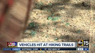 Vehicles targeted at Scottsdale hiking trail