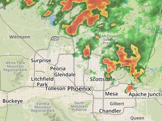 RADAR: Storms moving into the Valley
