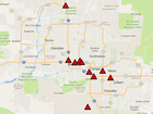 MAP: Most dangerous spots on Valley freeways