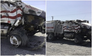 AZ firefighters crash while heading home from CA