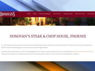 Donovan's Steakhouse shutters Phoenix restaurant