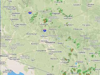 RADAR: Track storms developing around Arizona