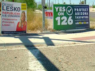 Are campaign signs breaking Valley ordinances?