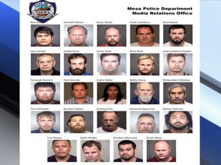 24 men arrested in E. Valley sex crimes bust