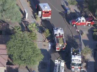 6-year-old pulled from burning home in PHX