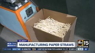 Gilbert company to make 27M paper straws a day