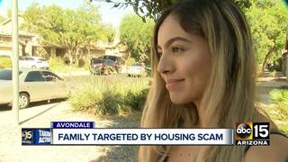 Valley family warning community of housing scam