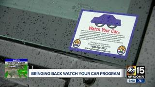 'Watch your car' program deters vehicle thieves