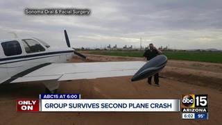 Valley dental group survives second plane crash