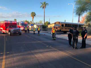 FD: Motorcyclist struck, killed by AJ school bus