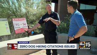 0 citations issued from PHX dog hiking heat ban