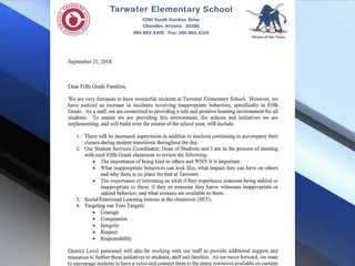 Parents pushing for change at Chandler school