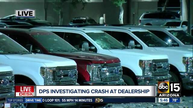 Vehicle On US Crashes Through Wall Into Dealership Lot Near - Apache junction car show