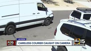VIDEO: Courier caught tossing packages in Laveen