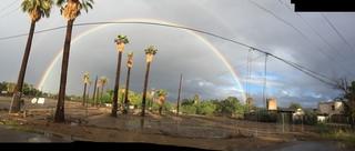 PHOTOS: Rainbows emerge after Rosa's rainfall