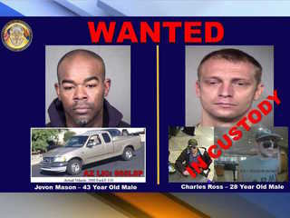 Peoria PD: Bank robbery suspects arrested