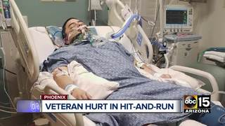 Search on for hit-and-run driver who hit veteran