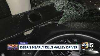 Road debris nearly impales driver on L-101