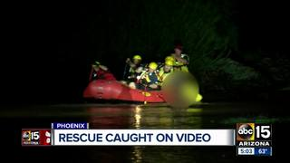Man rescued from fast-moving water in Phoenix