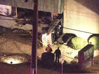 PD: Driver seriously hurt, crashes into building