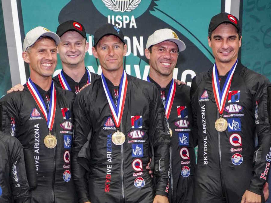 Eloy skydive team Airspeed wins silver medal in 2018 World Parachuting Championships