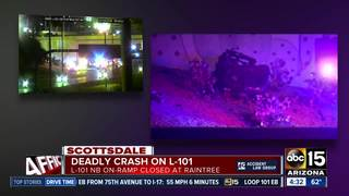 Driver dead after crash at Loop 101/Raintree