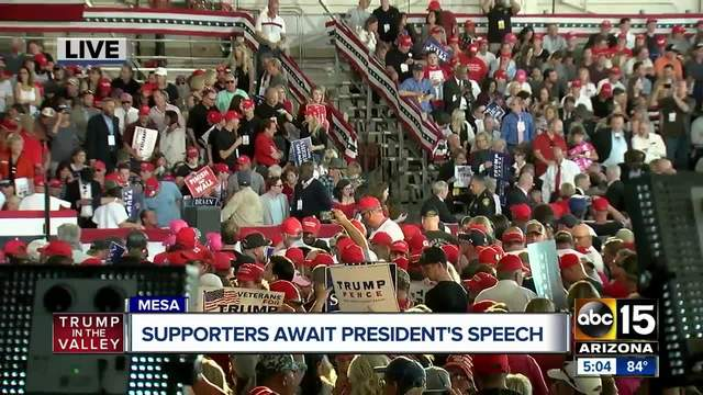 4-000 people expected to fill hangar for President Trump-s Mesa rally