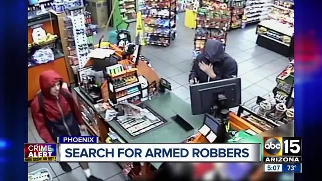 Men caught on camera robbing Circle K with gun