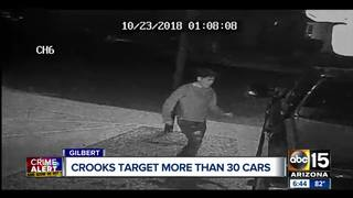 Group seen on camera breaking into Gilbert cars