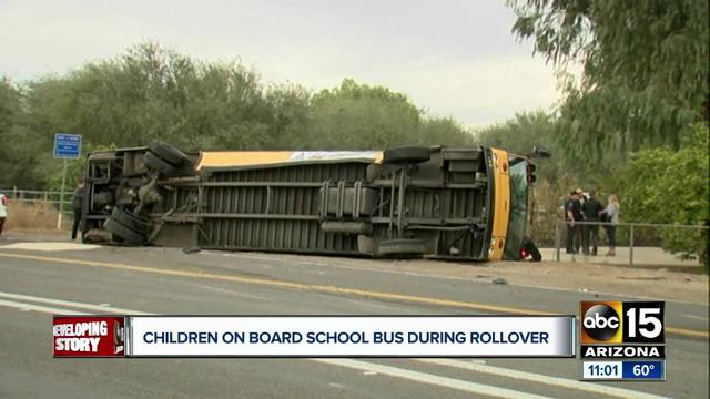 MCSO: 6 kids on board bus in W. Valley rollover