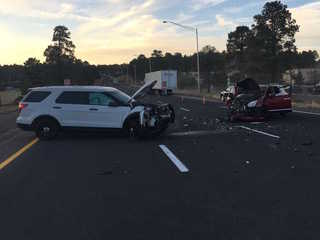 DPS: Wrong-way driver collides with trooper