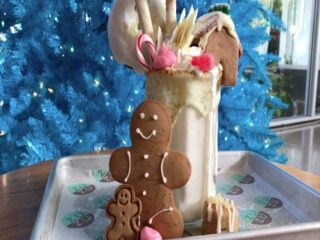 GINGERBREAD HOUSE ON TOP OF A SHAKE! New at Zuzu