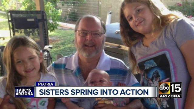 Sisters spring into action to help diabetic grandfather