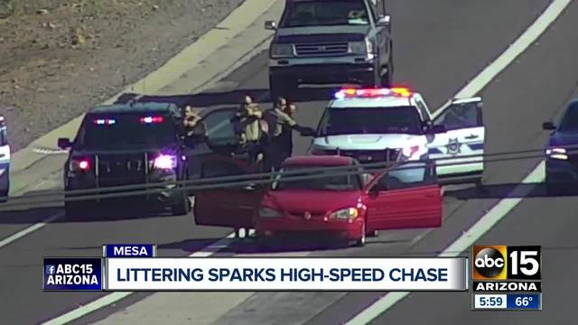 High-speed chase ends at the Loop 202 near Greenfield